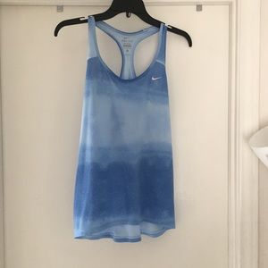 NIKE TANK TOP, DRY FIT, BLUE, SIZE M